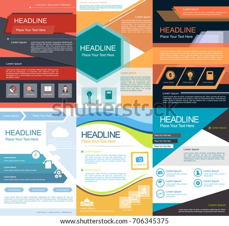 Proposal template design set stock vector 706345375 shutterstock proposal template design set saigontimesfo