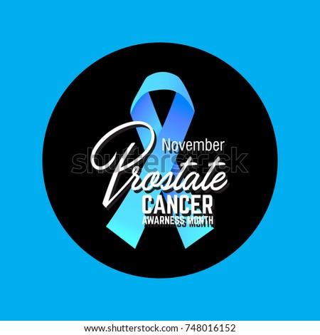Prostate Cancer Awareness Symbol Vector Illustration Stock Vector