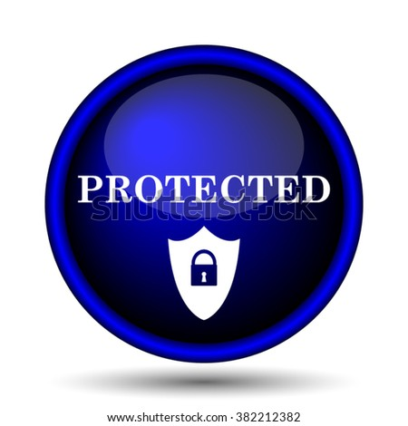 Protected icon. Internet button on white background. EPS10 vector