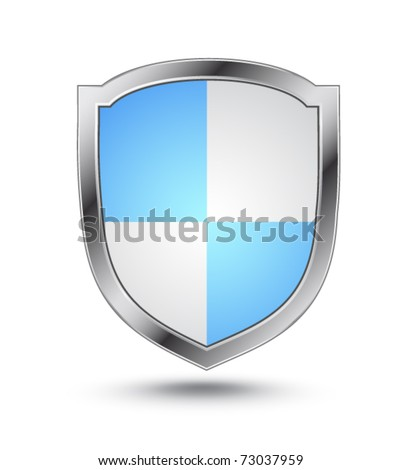 Protection shield - stock vector