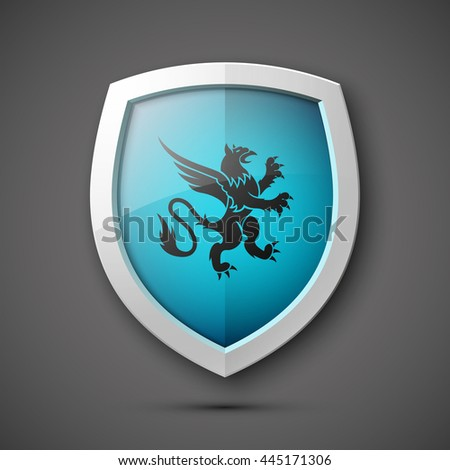 Protection shield concept Coat of arms. Vector illustration. - stock vector