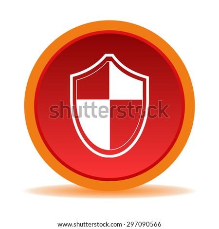 Protection shield icon - stock vector