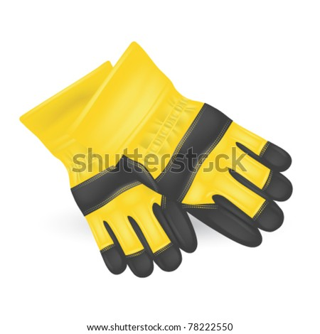 Protective gloves  isolated on white - stock vector