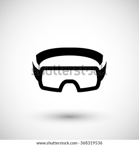Protective goggles icon - stock vector
