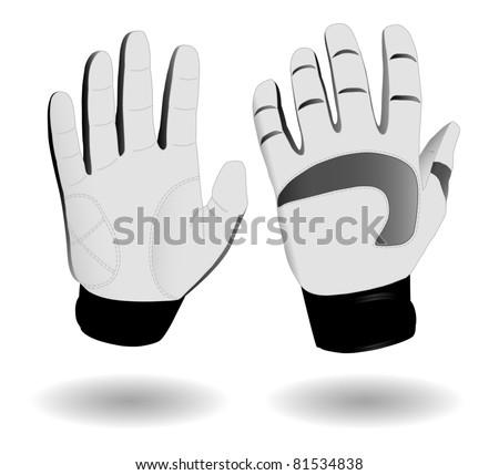 Protective ski gloves eps8 - stock vector