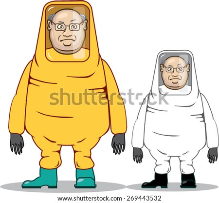 Protective Suit Illustration - stock vector