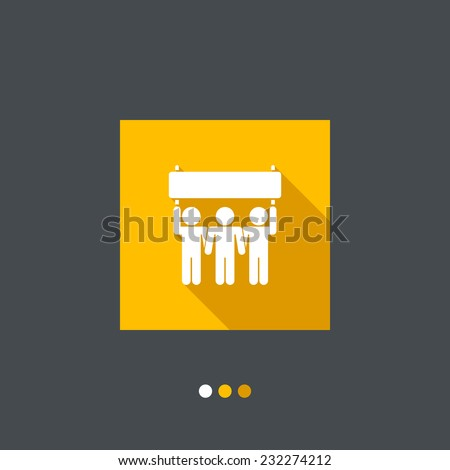 Protest or support group - stock vector