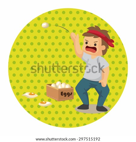 Protesters theme elements - stock vector