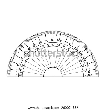protractor vector  - stock vector