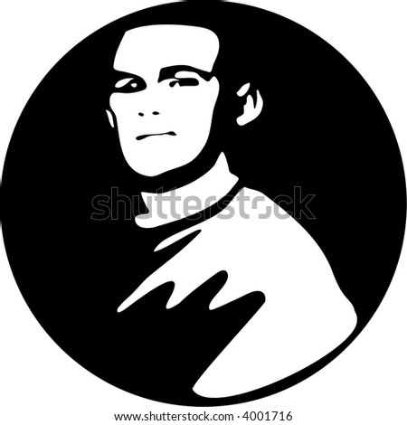 Mime Mask Hands Silhouette Isolated On Stock Vector ...