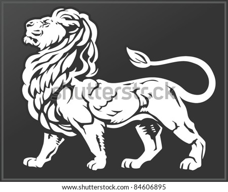 Proud Lion - stock vector