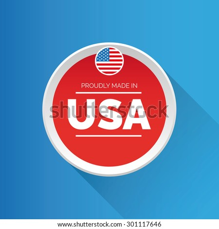 Proudly made in USA icon - stock vector