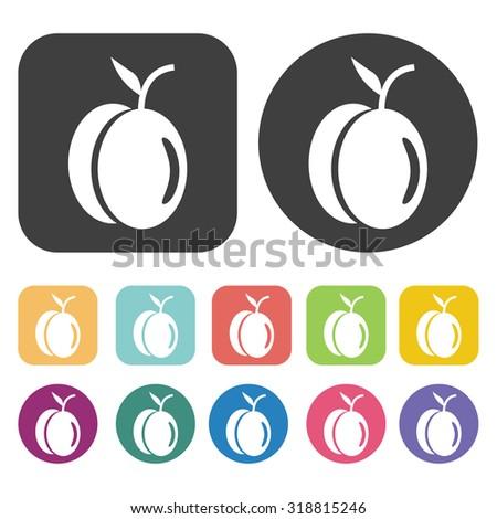 prune icon set. Vector Illustration eps10 - stock vector