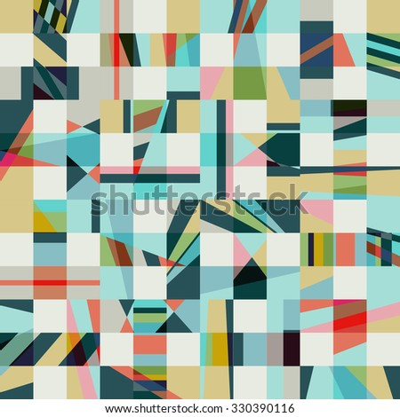 Psychedelic abstract geometric seamless pattern. - stock vector