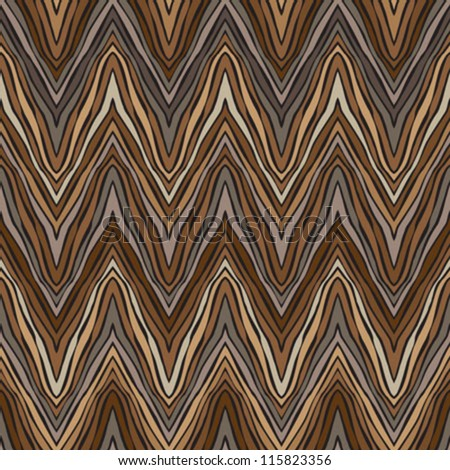 psychedelic linear zigzag pattern - stock vector