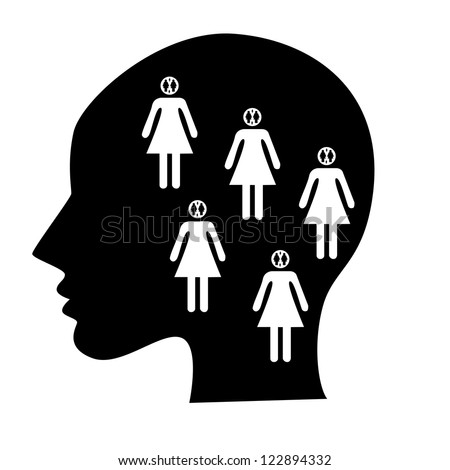 psychology Ego-States - stock vector