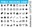 Public building signs Vector - stock photo