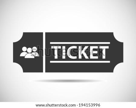 Public Common Open Ticket - stock vector