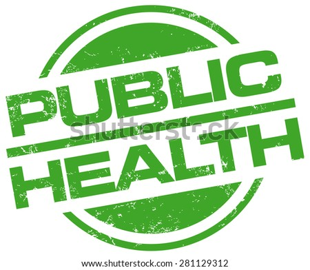 public health stamp - stock vector