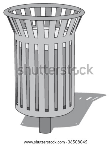 public trashcan 1 - stock vector