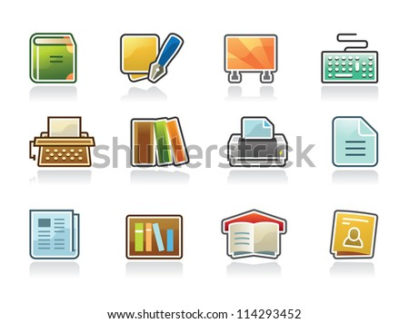 Publisher Icons - stock vector
