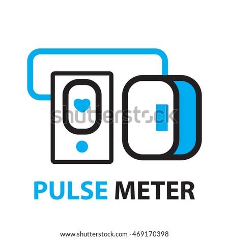 Pulse Meter Icon Symbol Stock Vector 469170398 - Shutterstock