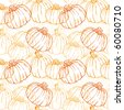 Pumpkin Background seamless pattern - stock vector