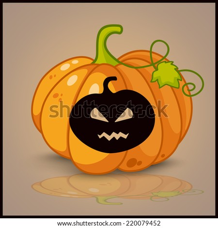 Pumpkin, banner and background for pumpkins for Halloween