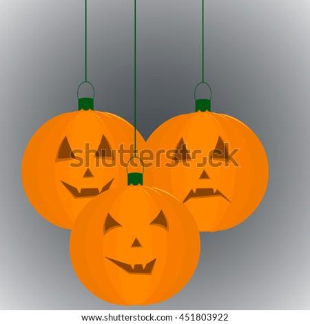 Pumpkin for a holiday Halloween - stock vector