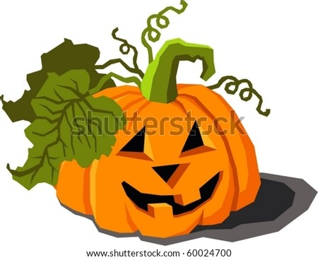 pumpkin for Halloween - stock vector