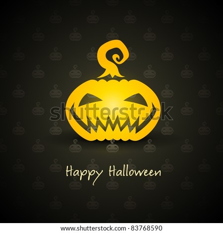 pumpkin for halloween on background vector illustration - stock vector