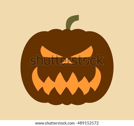 Pumpkin for Halloween. Vector illustration