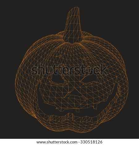 pumpkin halloween - stock vector