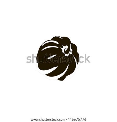 pumpkin icon. pumpkin sign - stock vector