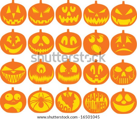 Pumpkin Icon Vectors - stock vector