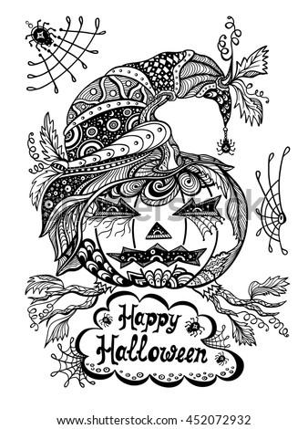 halloween door coloring pages - photo#18