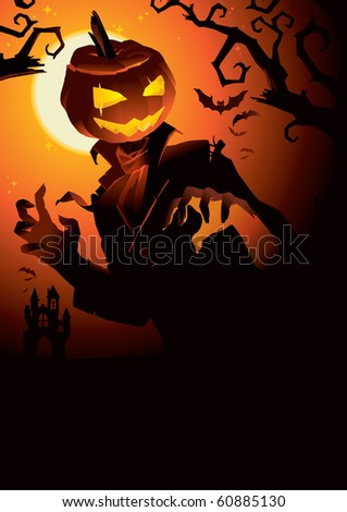 Pumpkin Jack is looking for somebody - stock vector