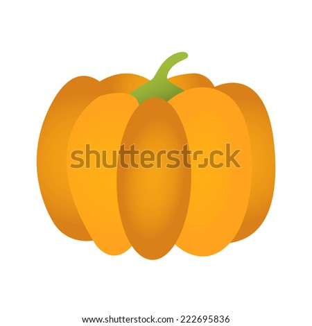 Pumpkin. Pumpkin isolated on a white background. - stock vector