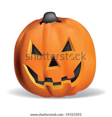 Pumpkin vector halloween smile orange october magic - stock vector