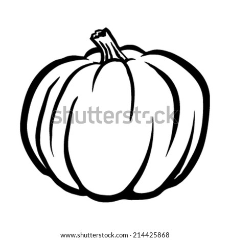 pumpkin vector icon stock vector royalty free 214425868 shutterstock rh shutterstock com Pumpkin Vector Black Pumpkin Outline Vector