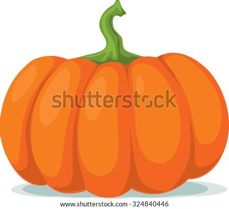 pumpkin - vector illustration - stock vector