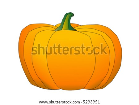 Pumpkin Vector Illustration - stock vector