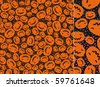 Pumpkins background for the better halloween. - stock vector