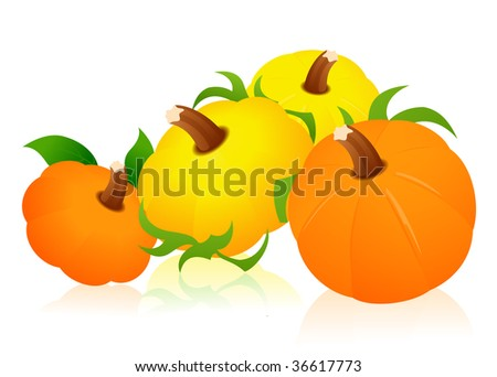 Pumpkins, vector illustration, EPS file included - stock vector