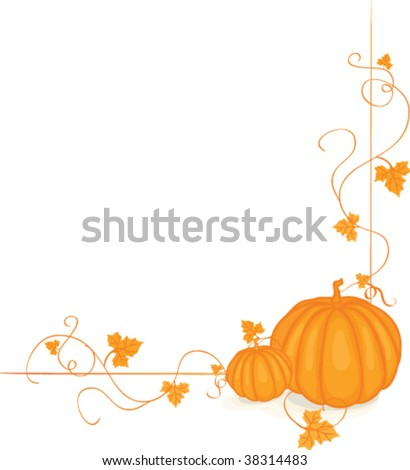 Pumpkins with fall leaves