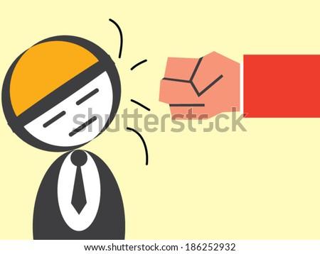 Punch Businessman - stock vector