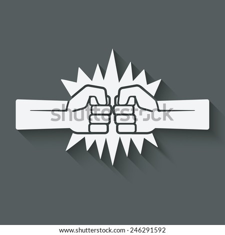 punch fists fight symbol - vector illustration. eps 10 - stock vector
