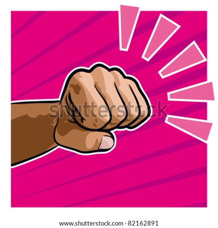 Punch, punching fist - stock vector