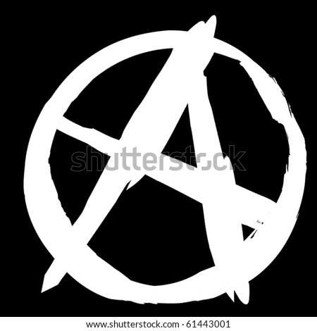 Punk - Anarchist sign - stock vector