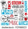 punk doodle - stock vector